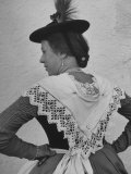 Woman Wearing Traditional Bavarian Costume Premium Photographic Print by Walter Sanders