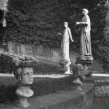 Gardens with Ancient Statues at Palazzo Colonna Photographic Print by John Phillips