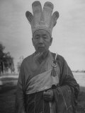 Old Man Wearing Traditional Worship Clothing Premium Photographic Print by Jack Birns