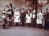 Victorian Children Dressing Up, Ca.1872 Premium Photographic Print