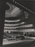 Singer Marian Anderson Performing for an Audience at Carnegie Hall Premium Photographic Print by Gjon Mili