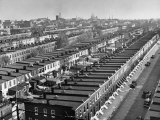 Aerial View of Town Houses in Baltimore Photographic Print by Dmitri Kessel