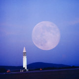 Missile and Moon at Huntsville Ala. - Dr. Von Braun's Team Photographic Print by Andreas Feininger