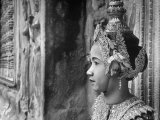 Religious Dancer at Temple of Angkor Wat, Wearing Richly Embroidered and Ornamented Costumes Premium Photographic Print by Eliot Elisofon