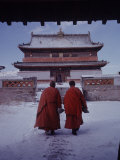 Outer Mongolia, Hidden Land Where Russia and China Square Off, Mongolian Buddhist Monastary Photographic Print by Howard Sochurek