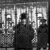 Guard Inside Iron Fence at Foreign Office Photographic Print by Margaret Bourke-White