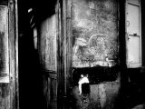 "Interior Hallway and Graffiti: ""Picasso Was Here,"" Bateau Lavoir, Montmartre Premium Photographic Print by Gjon Mili"