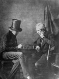 Portrait Study of Chess Players, to Show How Negatives Can Be Used to Make Any Number of Positives Premium Photographic Print by Bernard Hoffman
