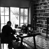Author W. Somerset Maugham Sitting at Desk in the Study of His Villa Mauresque Premium Photographic Print