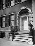Exterior Facade of the Landmark 19th Century Merchant House with Handsome Wrought-Iron Balustrade Premium Photographic Print by Walter Sanders