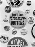 Campaign Buttons Premium Photographic Print by Bernard Hoffman