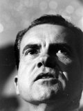 Richard Nixon During Tour Premium Photographic Print by Grey Villet