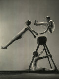 Danish Gymnasts Premium Photographic Print by Gjon Mili