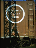 Section of Railroad Box Car W. Logo of the Atlantic Coast Line Railroad, Obscured by Shadow Premium Photographic Print by Walker Evans