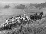 Hayride for Mansfield, Ohio, Senior High School Graduating Class Photographic Print by Alfred Eisenstaedt