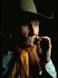 Portrait of Mustang Breeder Bob Brislawn Premium Photographic Print by Bill Eppridge