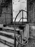 Stair Railing on Building in Moravian Settlement at Old Salem, Probably Home Moravian Church Premium Photographic Print by Eliot Elisofon