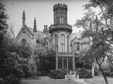 Exterior View of Gothic-Inspired House in the Hudson River Valley Premium Photographic Print by Margaret Bourke-White