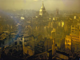 Scene from London after Heavy German Air Raid Bombing Attacks During the Battle of Britain Premium Photographic Print