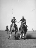 Men Playing Polo Premium Photographic Print by Carl Mydans