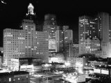 Night View of the City Houston Premium Photographic Print by Dmitri Kessel