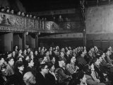 Interior View of Theater, with Audience Watching a Production at the Grand Guignol Theater Premium Photographic Print