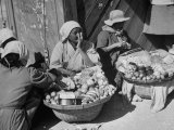 Old Women Sitting in the Market Place Premium Photographic Print by Carl Mydans