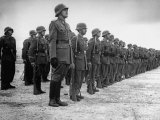 Guardia Civil Standing at Attention in Formation Premium Photographic Print by Dmitri Kessel