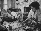 Lord Louis Mountbatten, with Daughter and Grandchildren Playing Monopoly Photographic Print by Ralph Crane