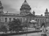 City Hall in Belfast Taking Up Almost the Whole One Side of Donegall Square Premium Photographic Print