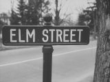 Elm Street Sign Premium Photographic Print by Ralph Morse