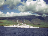 American Warships Off the Coast of Hawaii During the Us Navy's Pacific Fleet Maneuvers Photographic Print by Carl Mydans