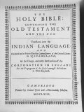 Indian Bible, the First Printed in America, Was John Eliot's Translation into Algonquin Language Premium Photographic Print