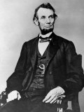 Seated Portrait of President Abraham Lincoln Premium Photographic Print
