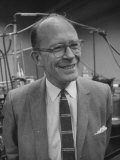 Dr. Willard Libby in UCLA Lab with Carbon-14 Process-Dated Early American Objects Premium Photographic Print by J. R. Eyerman