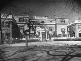 Exterior View of the Roosevelt Family Mansion, Birthplace of Pres. Franklin D. Roosevelt Premium Photographic Print by Margaret Bourke-White