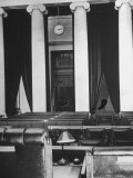 The Courtroom of the Supreme Court Seen from Behind of the Nine Justices Premium Photographic Print by Margaret Bourke-White