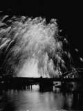 Fireworks Being Exploded to Celebrate the Coronation of Queen Elizabeth Ii Premium Photographic Print by Dmitri Kessel