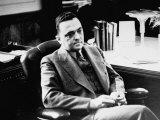 Fbi Chief J. Edgar Hoover, Sitting in His Office Premium Photographic Print