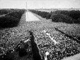 Freedom March During Civil Rights Rally, with View of Washington Memorial Monument in the Bkgrd Photographic Print