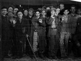 Prisoners at the Gates of the Buchenwald Concentration Camp Near the End of WWII Premium Photographic Print by Margaret Bourke-White