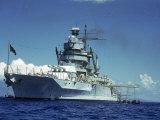 Battleship During Us Navy Manuevers Off the Hawaiian Islands Premium Photographic Print by Carl Mydans