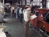 Studebaker Assembly Line in South Bend Indiana Premium Photographic Print by Bernard Hoffman