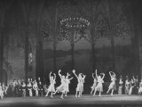 "Ballet Dancers Performing ""Cinderella"" on Stage at the Bolshoi Theater Photographic Print"