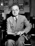 Sen. Harry S. Truman Sitting in His Office Premium Photographic Print