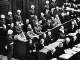 Courtroom Scene During the Nuremberg Trials for Nazi War Criminals Photographic Print
