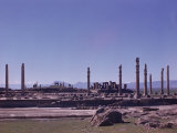 Columns and Ruins of the Ancient Persian City of Persepolis Premium Photographic Print by Dmitri Kessel