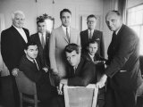 Robert F. Kennedy Sitting with Other Members of John F. Kennedy's Campaign Team Premium Photographic Print