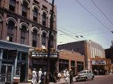 Street Scene in Memphis Premium Photographic Print