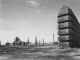 General View Showing the Oil Drum Plant Refinery Premium Photographic Print by Dmitri Kessel